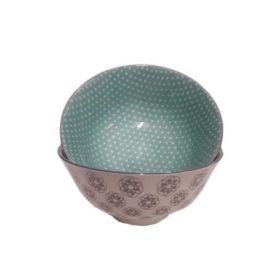 Ciotole porcellana pesante  lavorate a mano-Verde